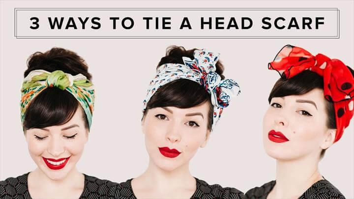 Hair Tutorial, headscarf