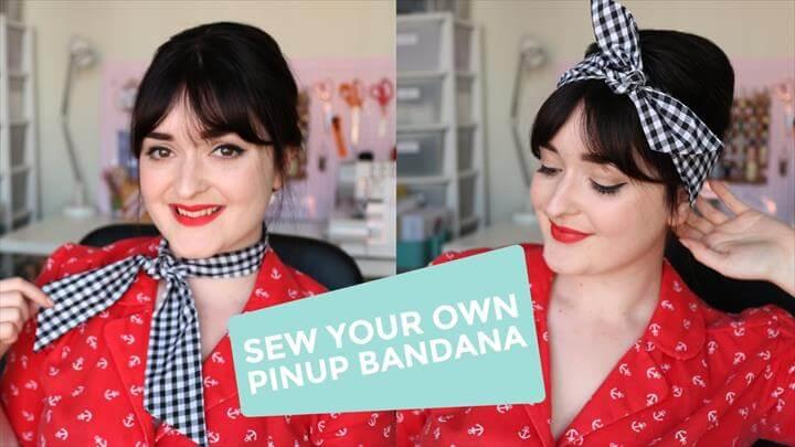 DIY Rockabilly Pinup Bandana/Headscarf Sewing Tutorial!