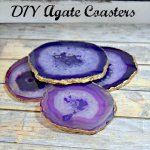 DIY Agate Slice Coaster