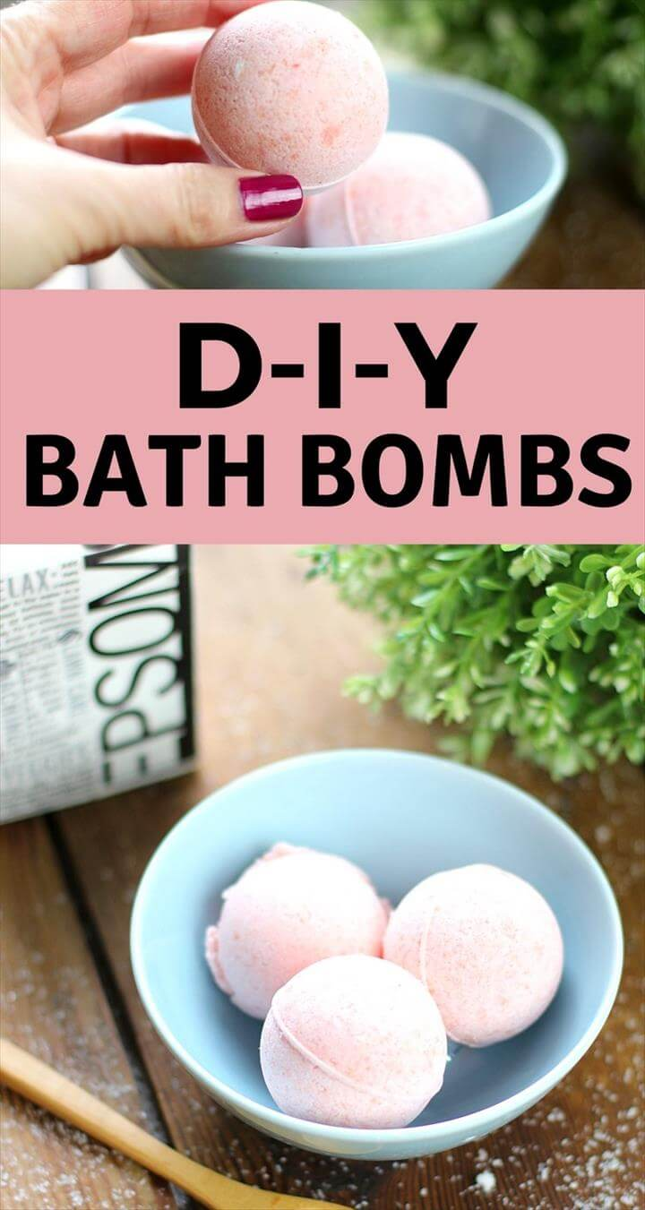 an easy tutorial for how to make a Bath Bomb Recipe