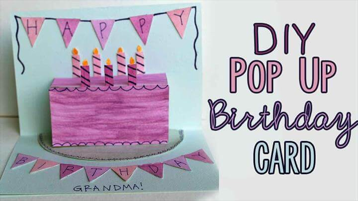 DIY Pop-Up Birthday Card, diy gift, motherday gift, craft, paper craft