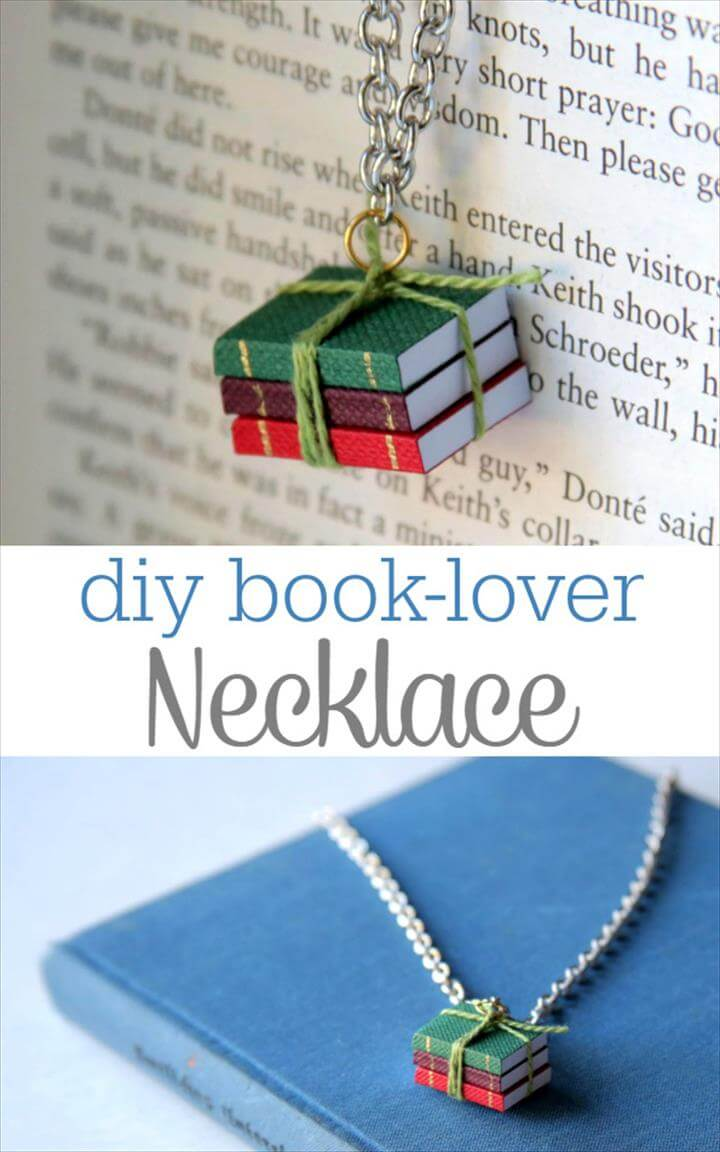 Adorable Handmade Jewelry Gift Idea - DIY Book Lover's Necklace Tutorial