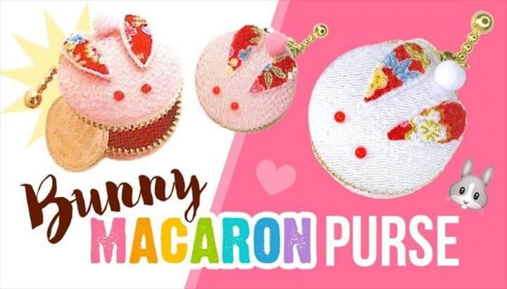 DIY Bunny Macaron Coin Purse!! ASMR Japanese Style Craft Kit
