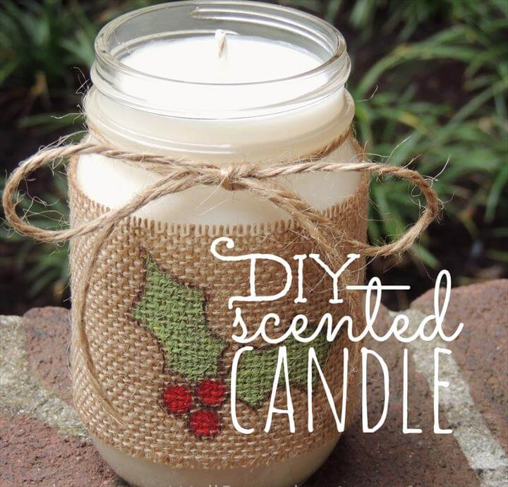 DIY Scented Candle in a Jar