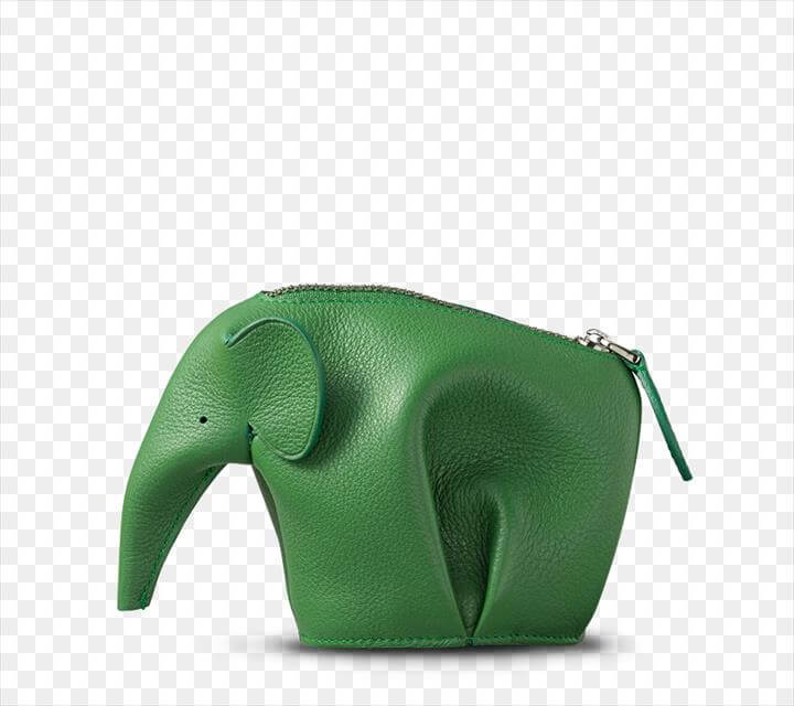 Handbag Coin purse Elephants - forest green backpack diy