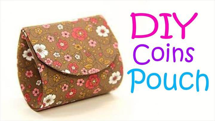 DIY Purse Coins Pouch Bag tutorial