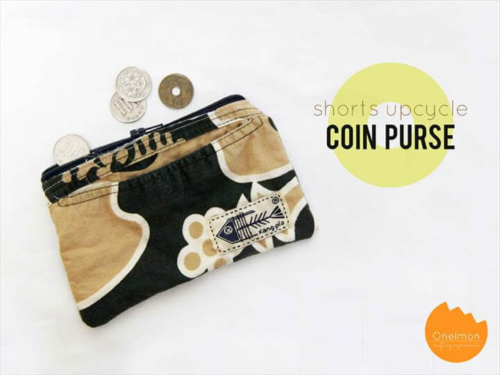 DIY Tutorial: Shorts Upcycle - Coin Purse