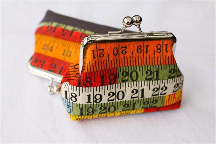 coin purse making tutorial, kisslock coin purse, handmade coin purse, DIY
