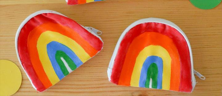 DIY Rainbow Coin Purse