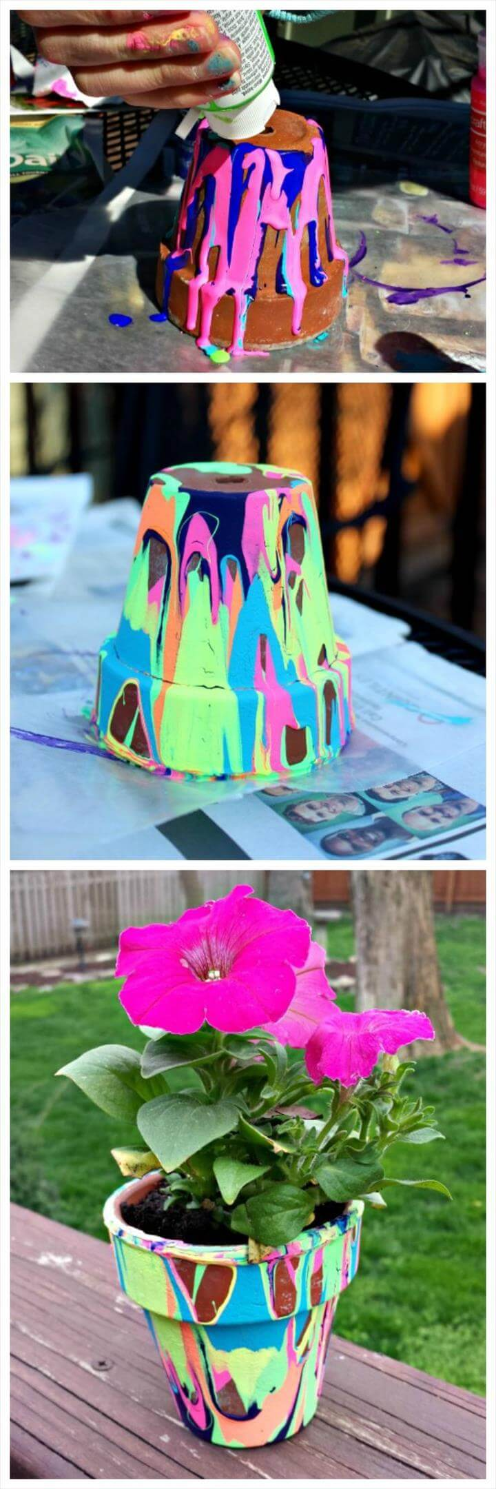 Colorful flower pot Mothers day gifting