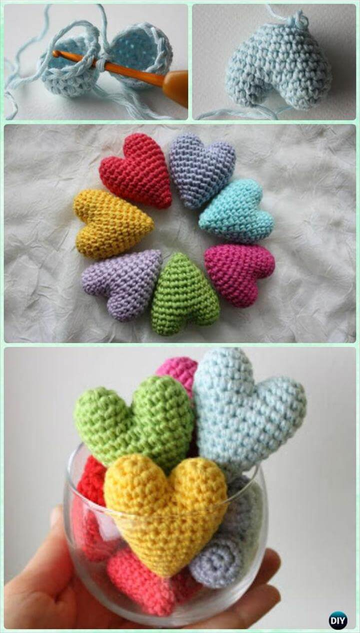 Crochet 3D Amigurumi Heart Free Pattern- Crochet Heart Free Patterns Instructions