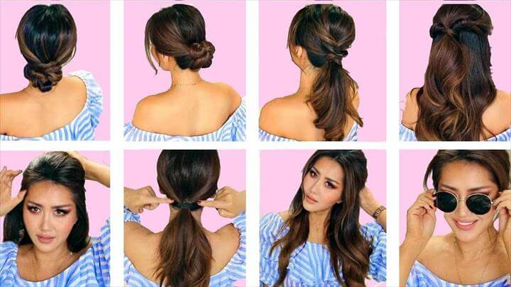In this week's hairstyle tutorial, I'm going to show you how to create 5 easy, lazy hairstyles, for long or medium length hair. Simple, running late hairstyles for school or work.