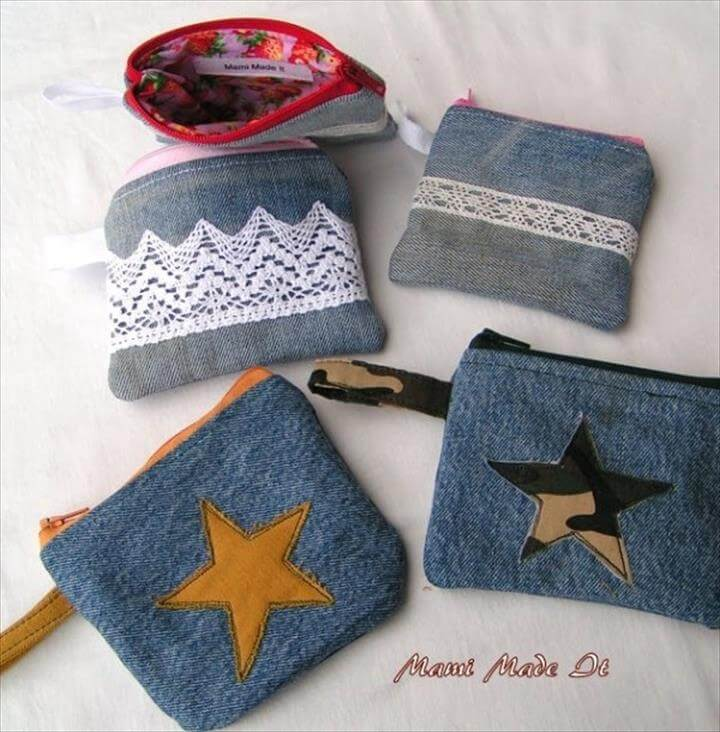 Denim Coin Purses