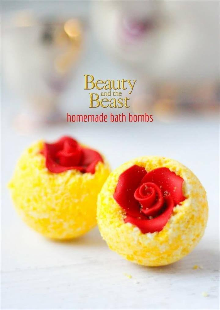 DIY Belle's Bath Bombs, a fun Disney craft for Beauty and the Beast fans craving