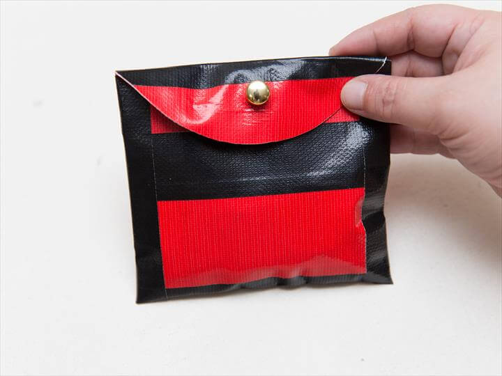 Duct Tape Coin Pouch