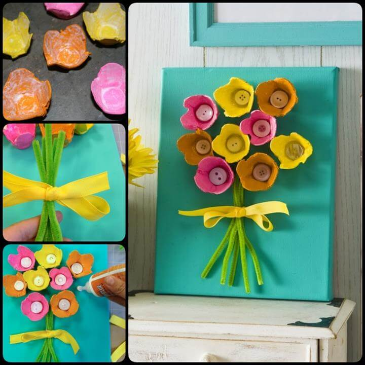 EASY Egg Carton Art on Canvas