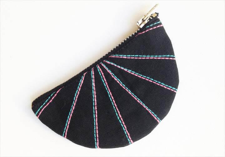 DIY fan coin purse