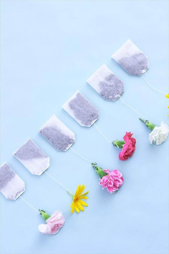 DIY Floral Tea Bags
