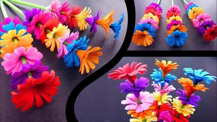 Sticky Gift Flower, Easy Flowers Making, Handmade Gift Ideas : DIY Paper Crafts