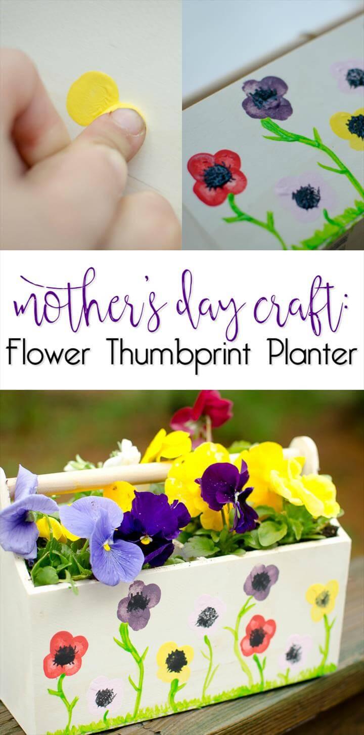 flower thumbprint planter