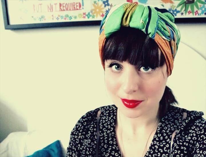 hair wear, diy fashion, fashion ideas, diy headwrap