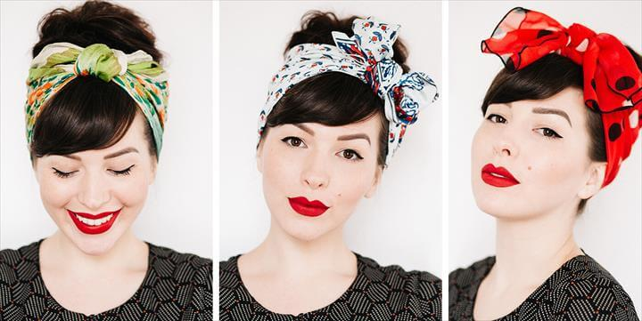 How To Tie A Head Scarf 3 Different Ways