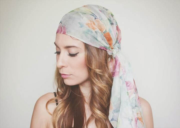 Tie a Head Scarf for the Summer: 3 Ways!