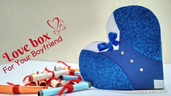 Heart Box DIY Handmade Gift For Boyfriend ❣ Valentines Day Surprise Gifts Idea