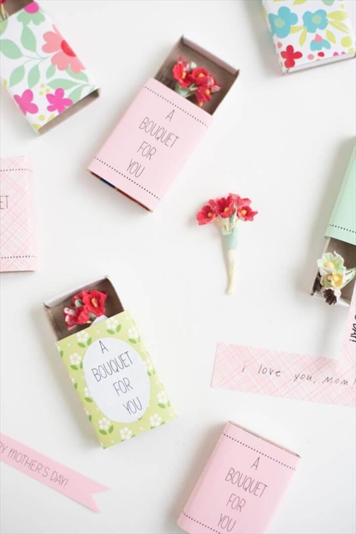 Matchbox Bouquet DIY