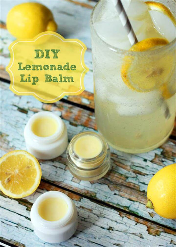 DIY Lemonade Lip Balm
