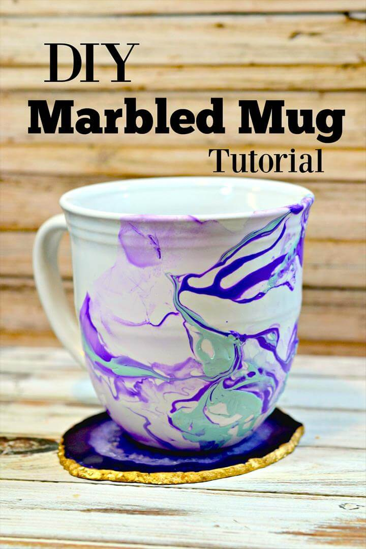 DIY Marble Mugs Tutorial - Handmade Gift