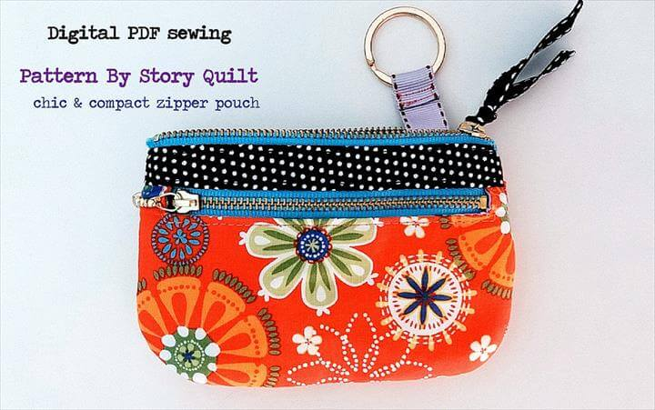 Mini zipper pouch | purse digital pdf sewing pattern