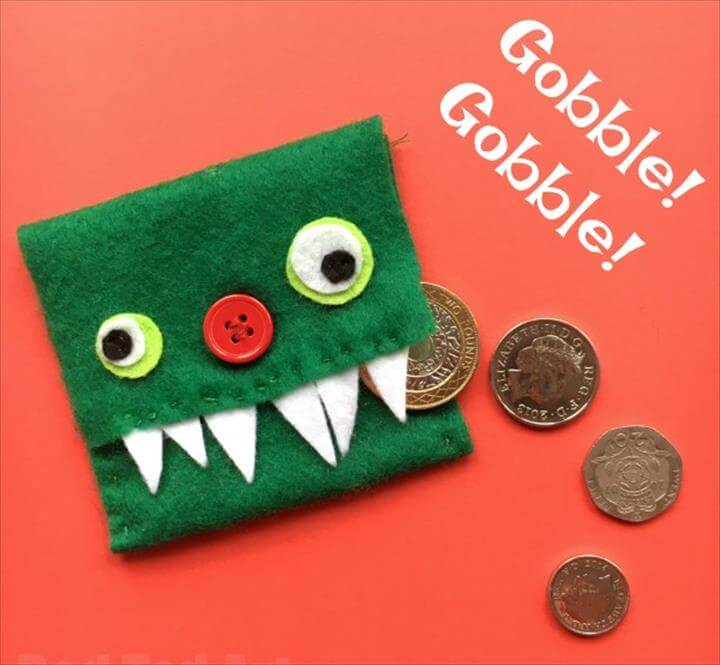 Easy Kids Monster Purse DIY. We love sewing and are always looking for easy sewing