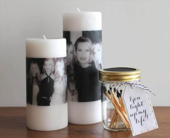 DIY Mother's Day Photo Candle