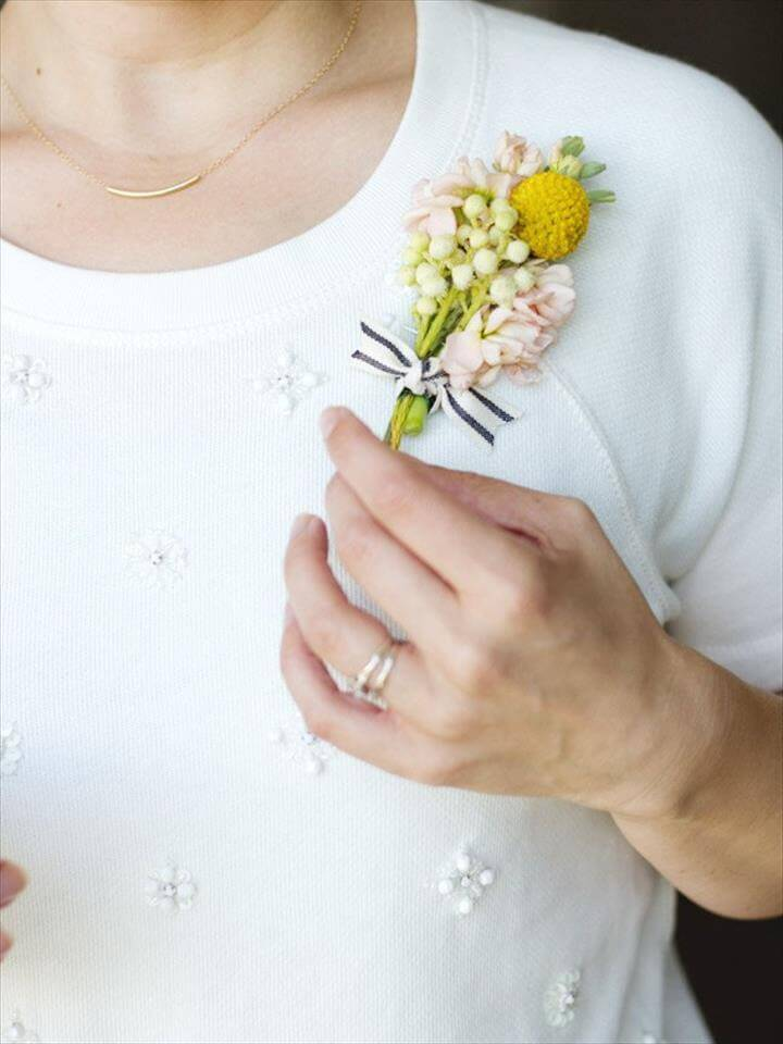 DIY Corsage for Mother's Day