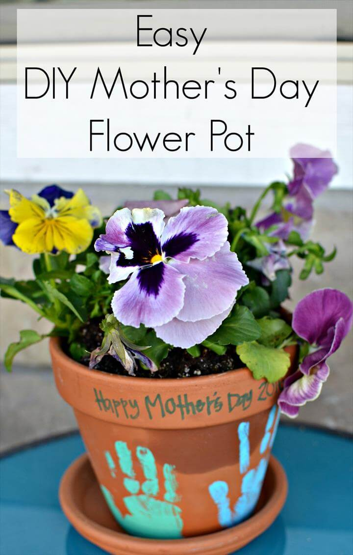 Mother's Day Flower Pot Craft Ideas Elegant Diy Flower Pot Mother's Day Gift Of Mother's Day