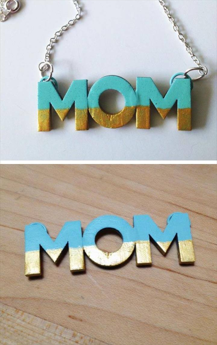 DIY Mothers Day Craft -Mom Necklace, diy jewelry, diy necklace, necklace ideas, necklace tutorials