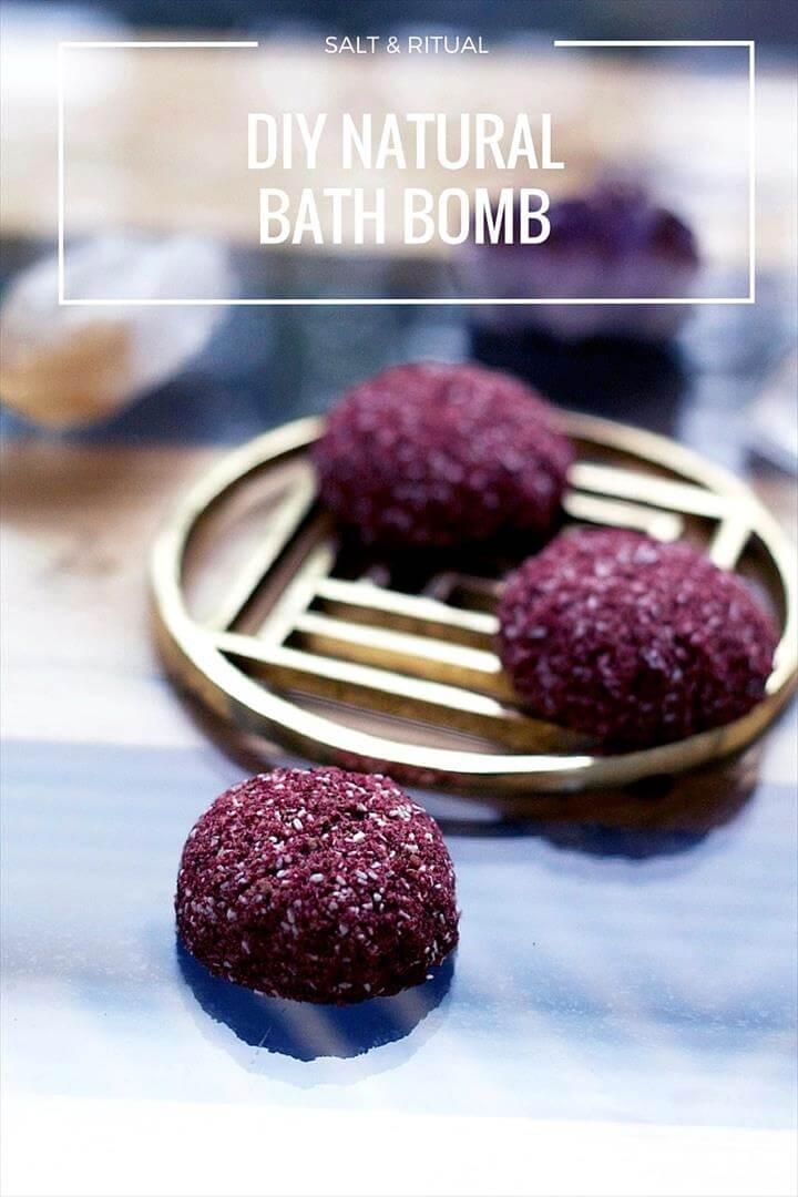 DIY Natural Bath Bomb Recip