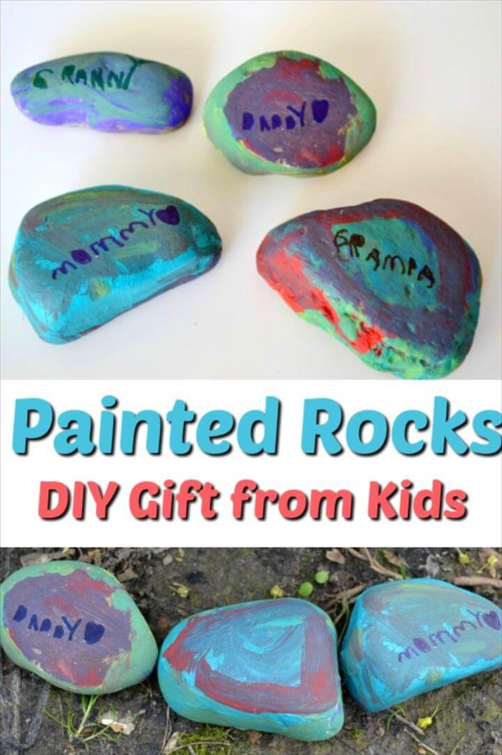 DIY gift that kids can make for mom, dad, grandparents or teachers! Painted