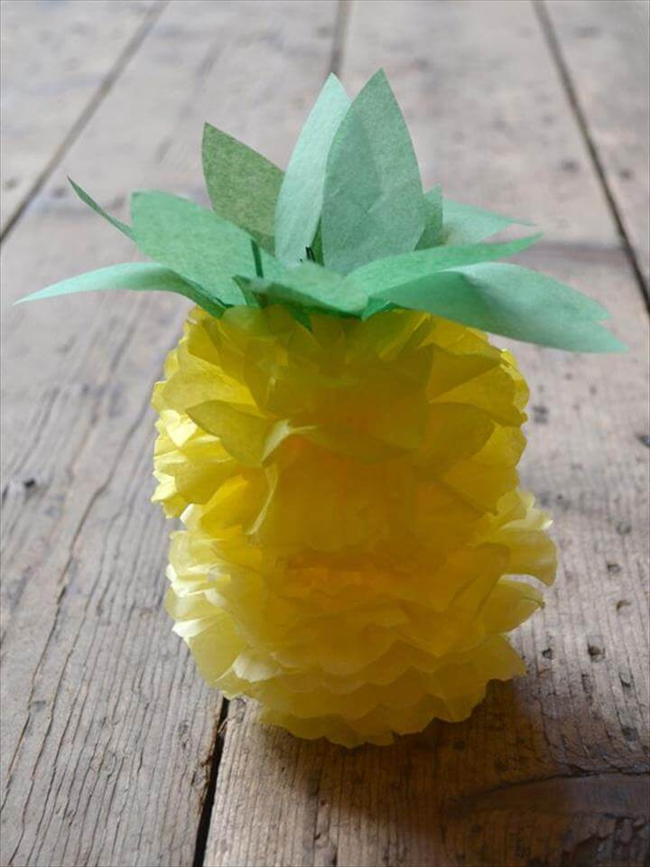 paper pom pom pineapple