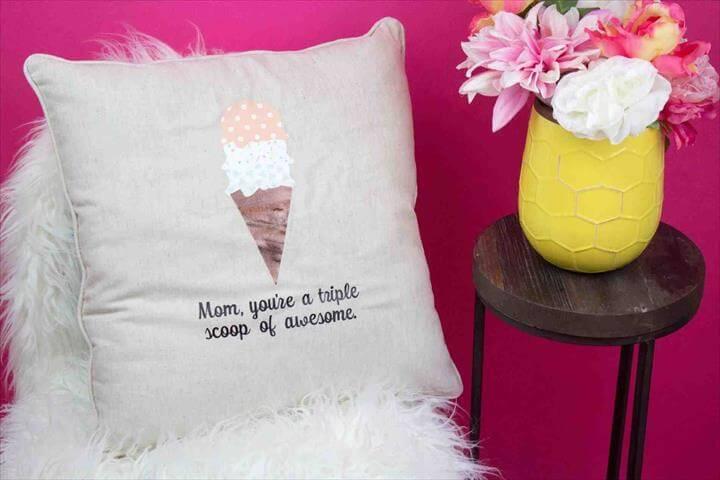 Diy pillow, home decor, gift