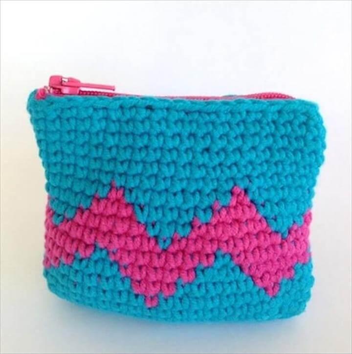 Crochet Tapestry coin purse DIY