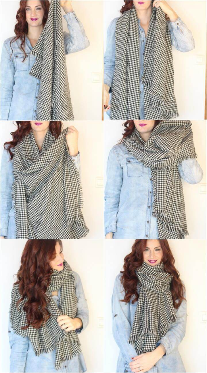 how to tie a scarf - the blanket scarf