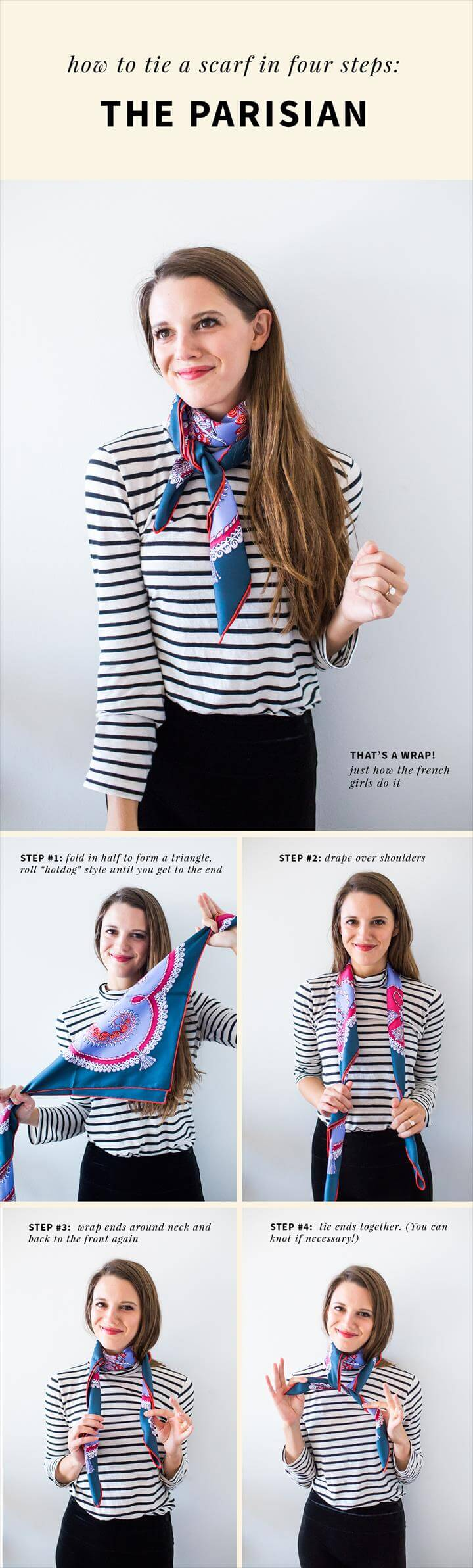Two Ways to Tie a French Style Scarf