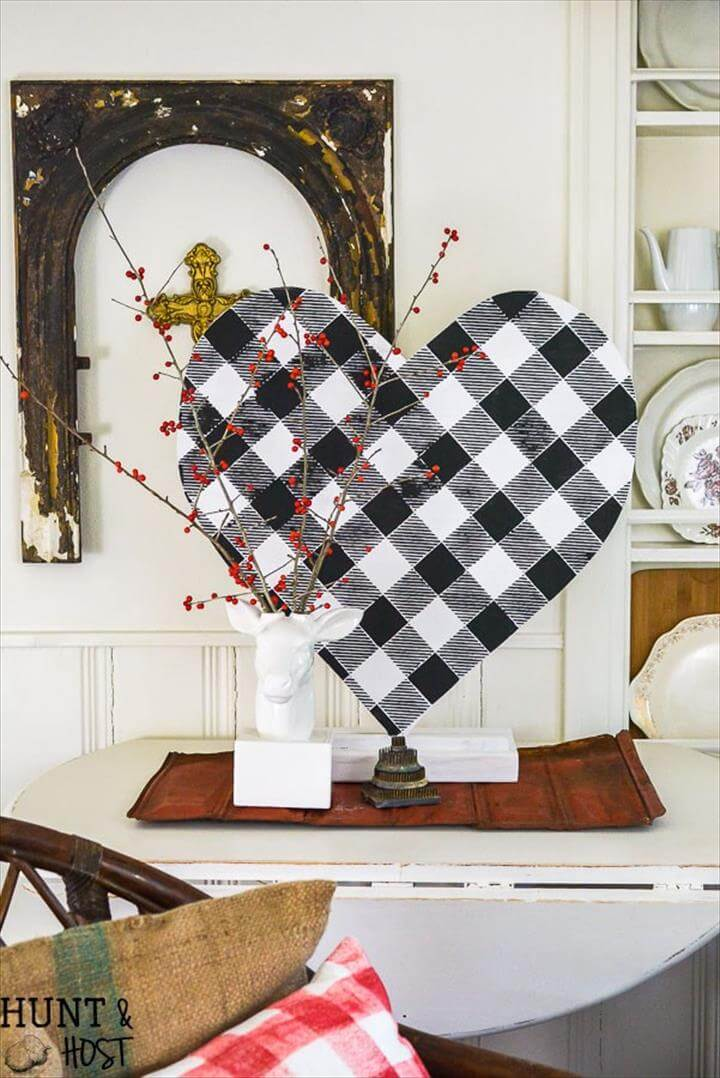 diy heart, heart decor, home decor,