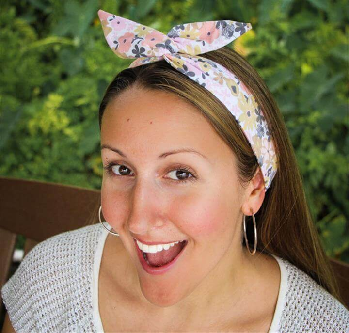 DIY Wire Head Scarf for the Beginner Sewist | Another inspirational Scarf Week tutorial that is