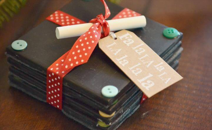 DIY Chalkboard Coasters, Easy Handmade Gift Idea