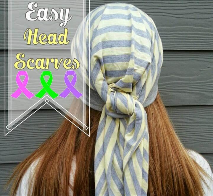 Easy Head Scarves Sewing Tutorial
