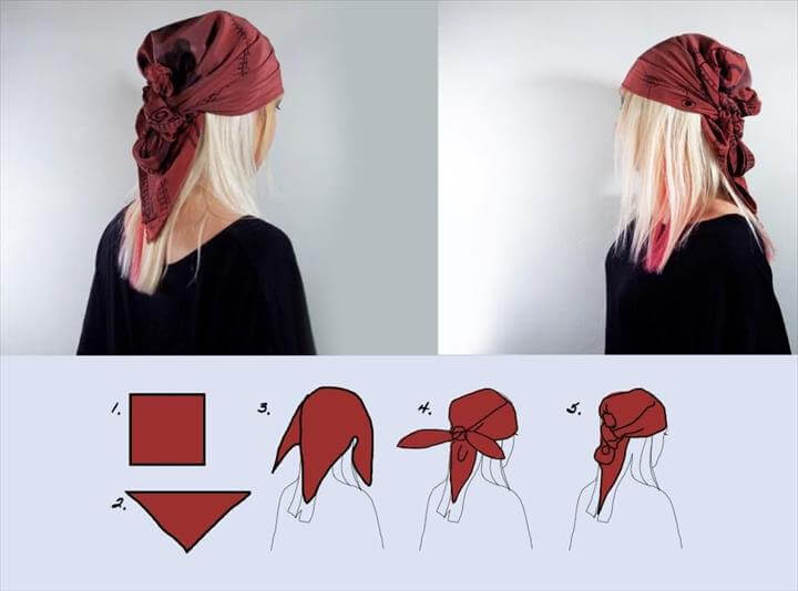 Fashion : Head scarf style 6 easy ways
