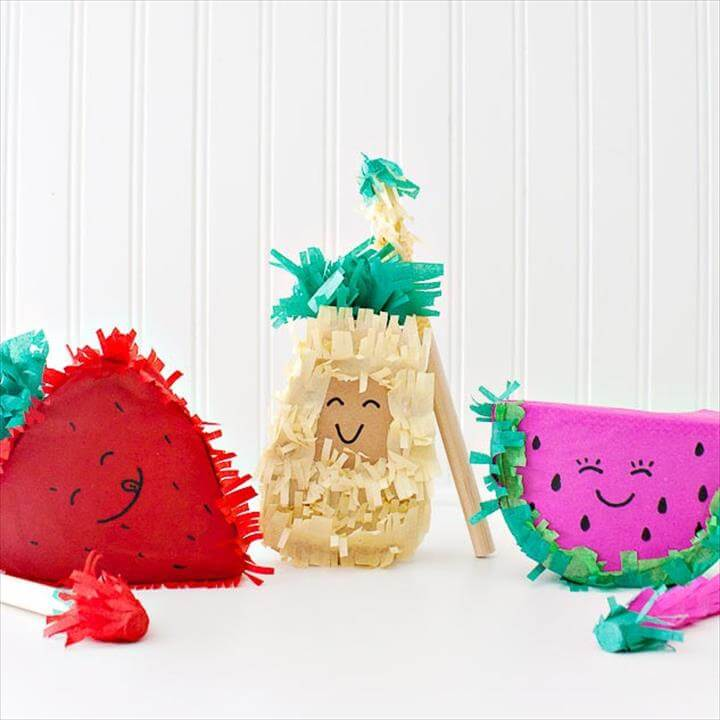 DIY Fruit Piñatas